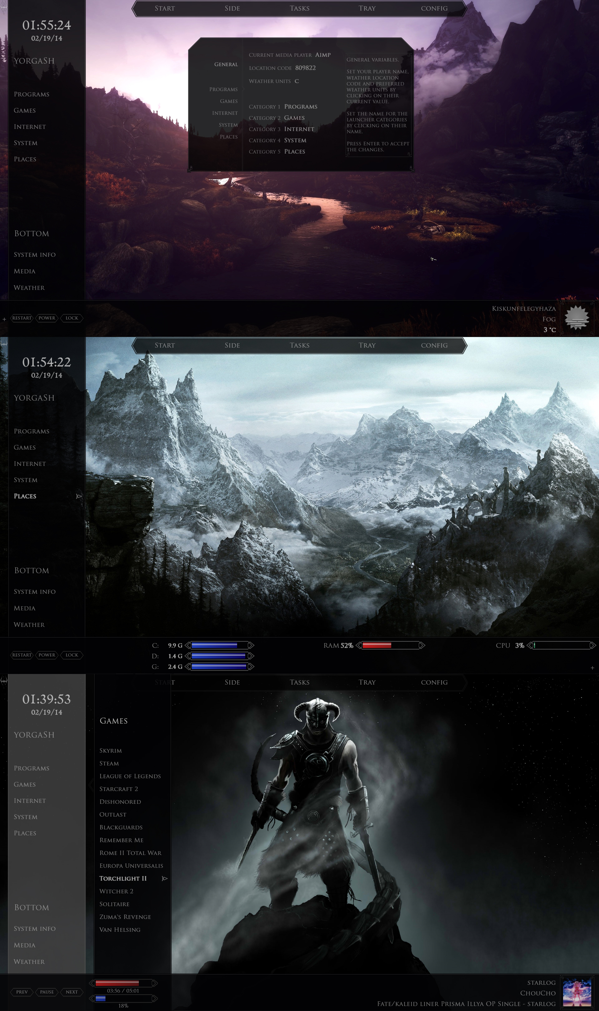 Skyrim Desktop 1.02 by yorgash