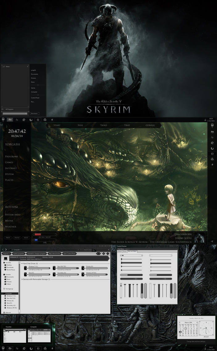 Skyrim Visual Style for Windows by yorgash