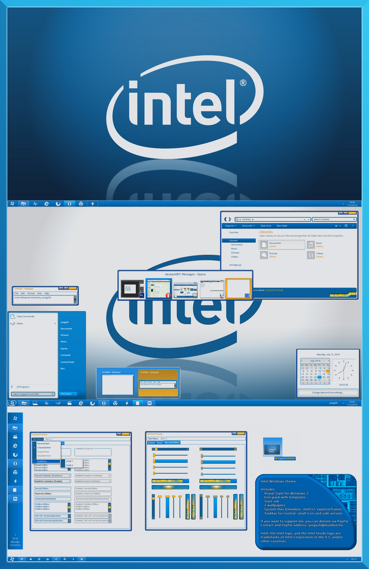 Intel theme for Win7