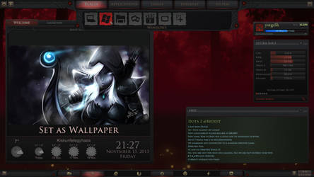 Dota 2 Game Menu for Rainmeter