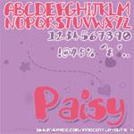 Paisy Font by 0-Fluid-0