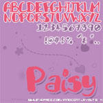 Paisy Font by 0-Fluid-0