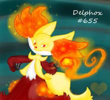 No.655 - Delphox by Catcoalatte