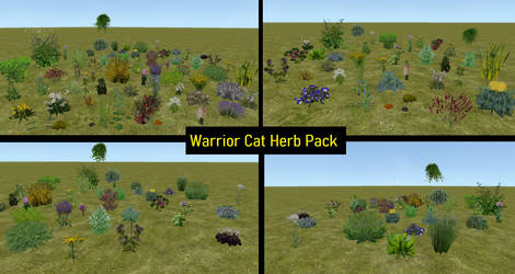 [FH] - Warrior Cat Herb Pack by ElfinStray