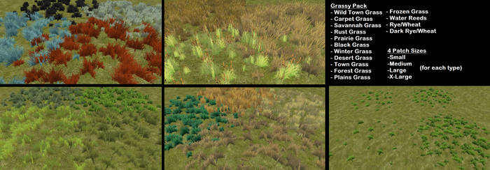[FH] Elf's Grassy Grass Meshes by ElfinStray