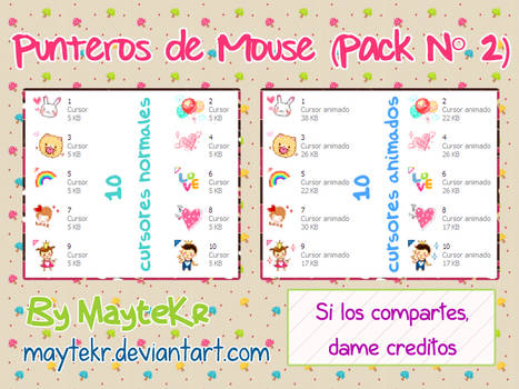 Punteros de mouse Seleccion normal Pack 2