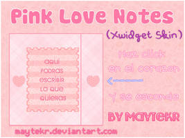 Pink Love Notes for XWidget by MayteKr