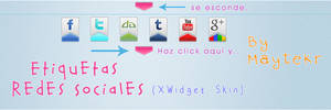 Etiquetas Redes Sociales for XWidget