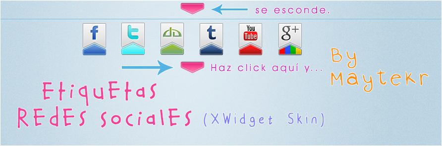 Etiquetas Redes Sociales for XWidget by MayteKr