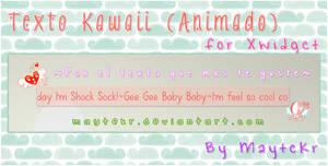 Texto Kawaii (animado) for XWidget