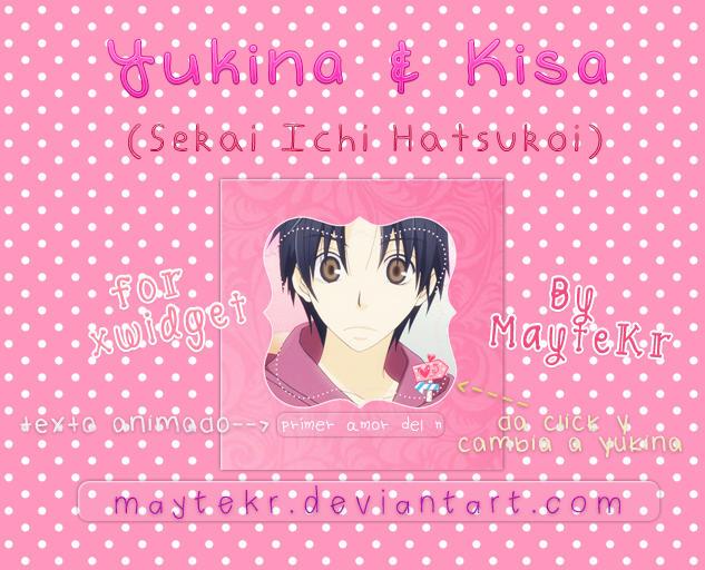 Yukina and Kisa for XWidget by MayteKr