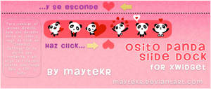 Osito Panda Slide Dock for XWidget by MayteKr