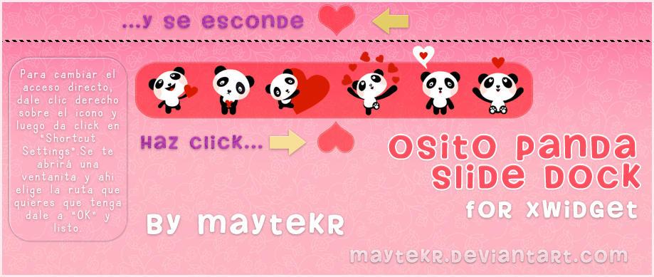 Osito Panda Slide Dock for XWidget by MayteKr
