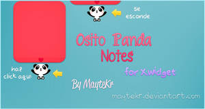 Osito Panda Notes for XWidget by MayteKr