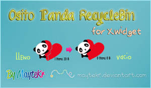 Osito Panda RecycleBin for XWidget by MayteKr