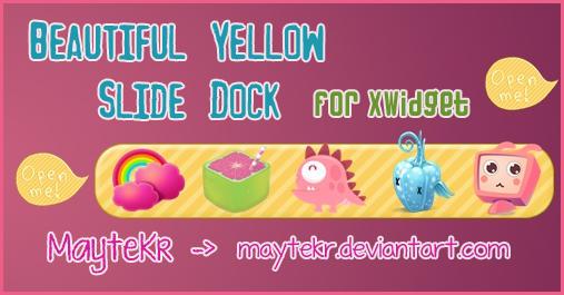 Beautiful Yellow Slide Dock for XWidget by MayteKr