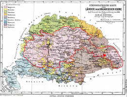 Ethnic Borders Hungary Mineral Deposite Map.