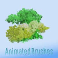 Gimp Leaf Brushes designed for Krita Users