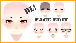 Face Edit//MosterNight-MMD//DL!
