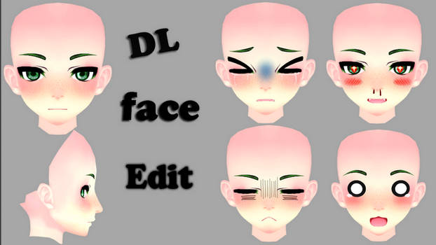 Face Edit Male// Dl // by MosterNighT-MMD