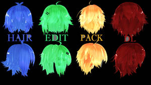 Hair Edit Pack Dl! // By-MosterNight-MMD