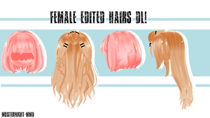 Female Edit Hairs #1(?) // By-MosterNight-MMD