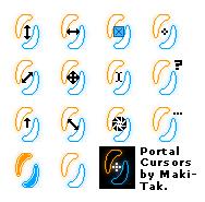 Portal Themed Cursor Set by Maki-Tak