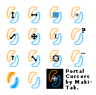 Portal Themed Cursor Set by Maki-Tak
