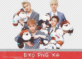 EXO PNG X 4 by Ruvita