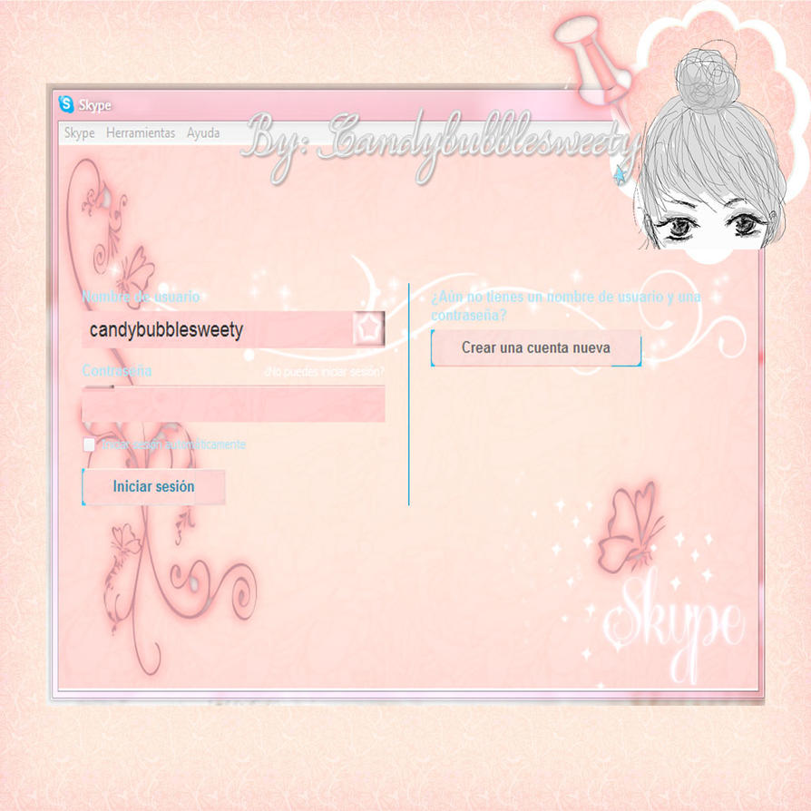 Sweet Pink Skype By Candybubblesweety On DeviantArt