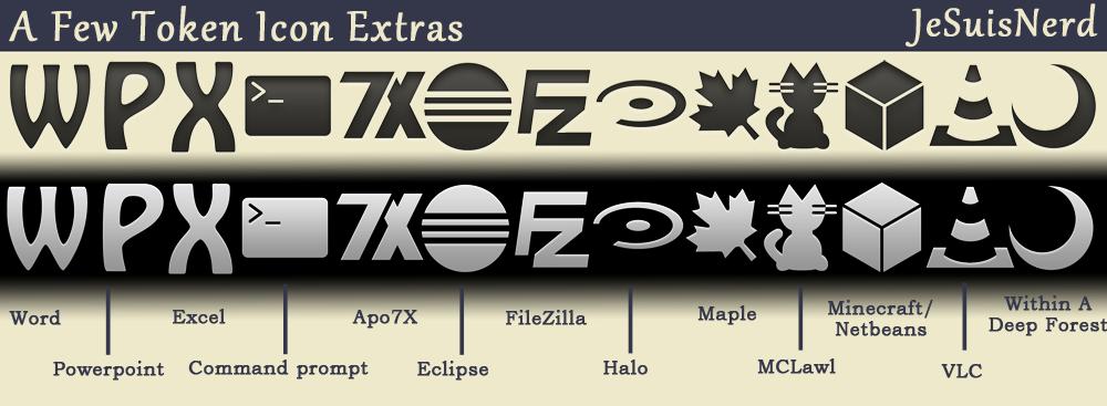 A few Token icon extras by JeSuisNerd