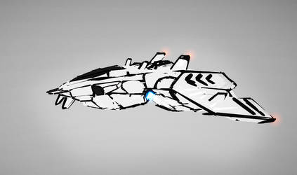 tilt brush vr concept ship 01 gif