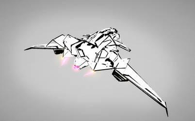 tilt brush vr concept ship 02 gif by krassnoludek
