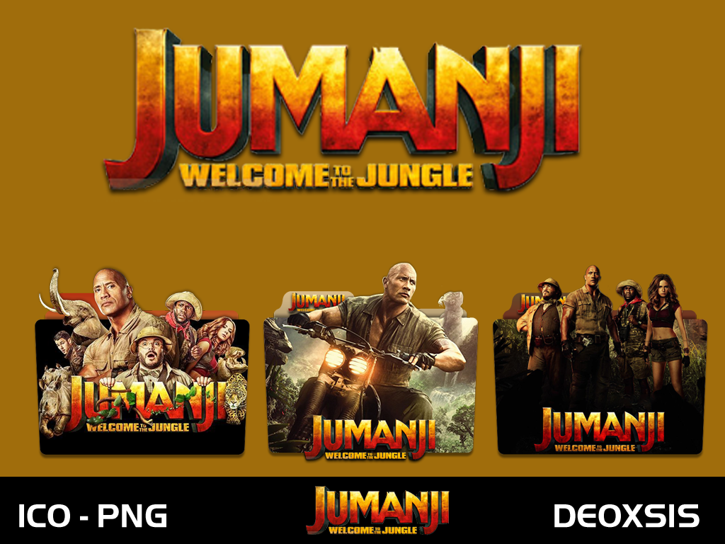 Jumanji Welcome To The Jungle 2017 Folder Icon By Deoxsis On Deviantart