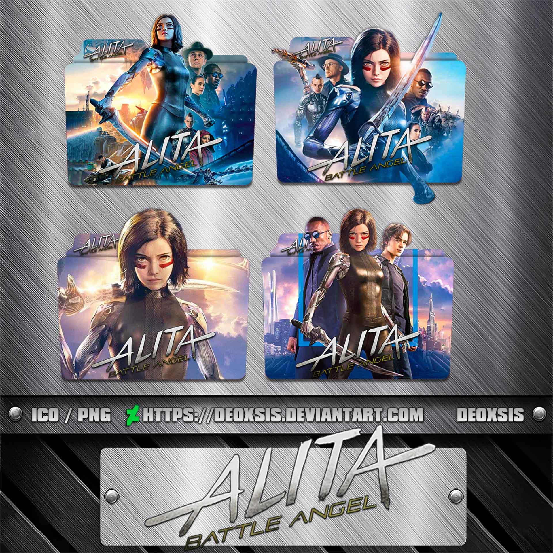 Alita Battle Angel 2019 Folder Icon Pack By Deoxsis On Deviantart