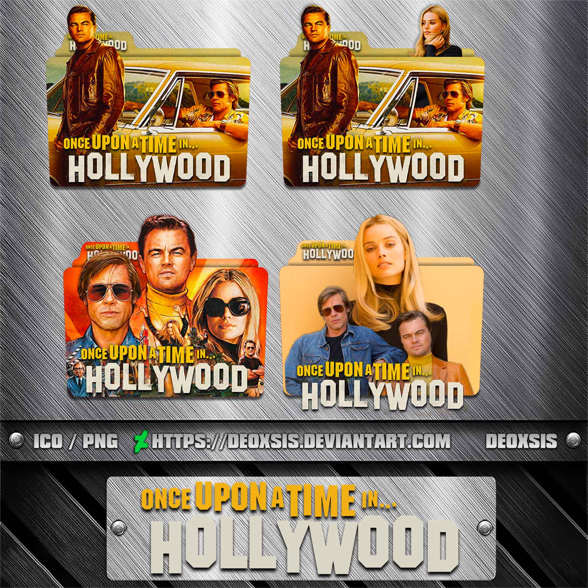 Once Upon A Time In Hollywood 2019 Folder Icon By Deoxsis On Deviantart