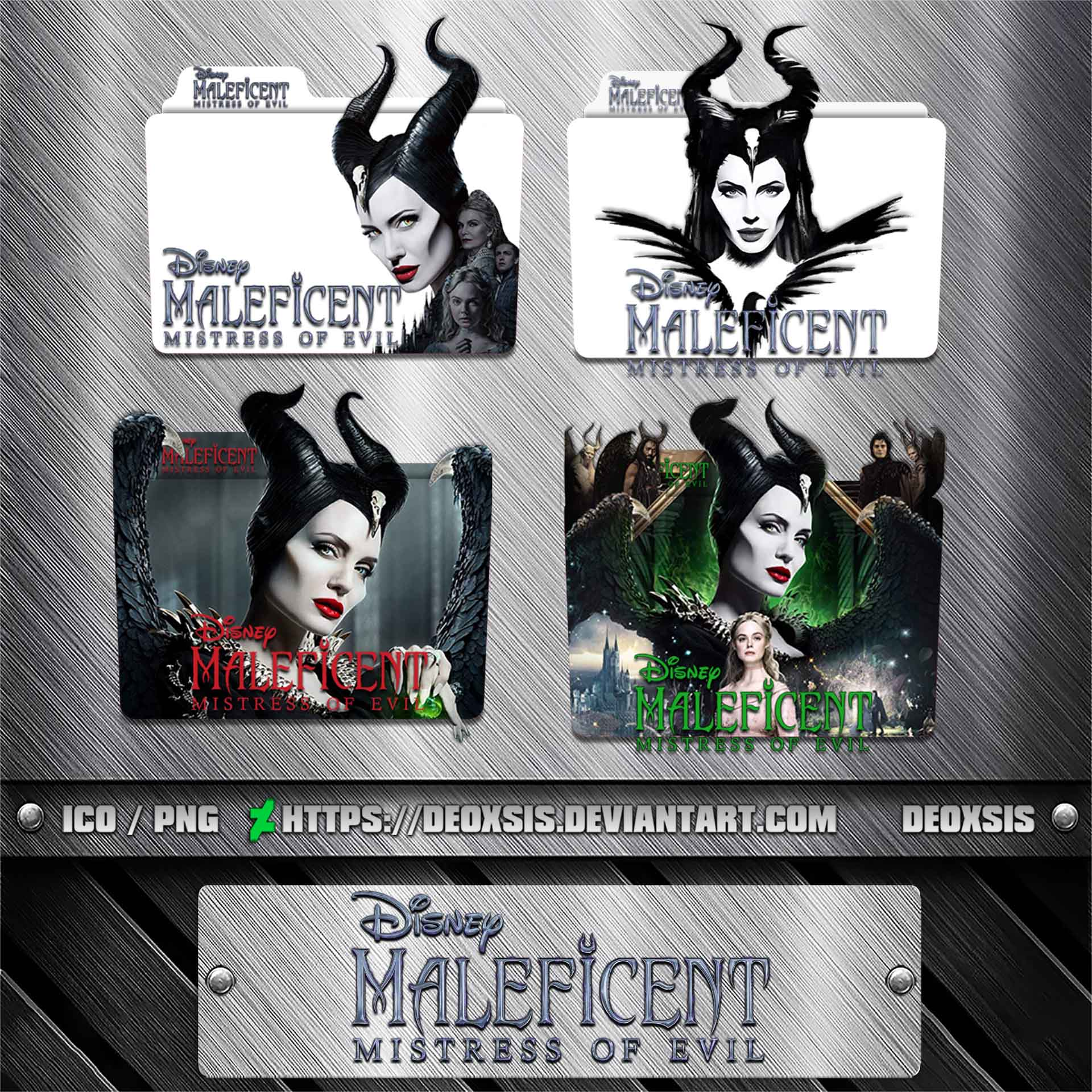 Maleficent Mistress Of Evil 2019 Foldericonpack By Deoxsis On Deviantart