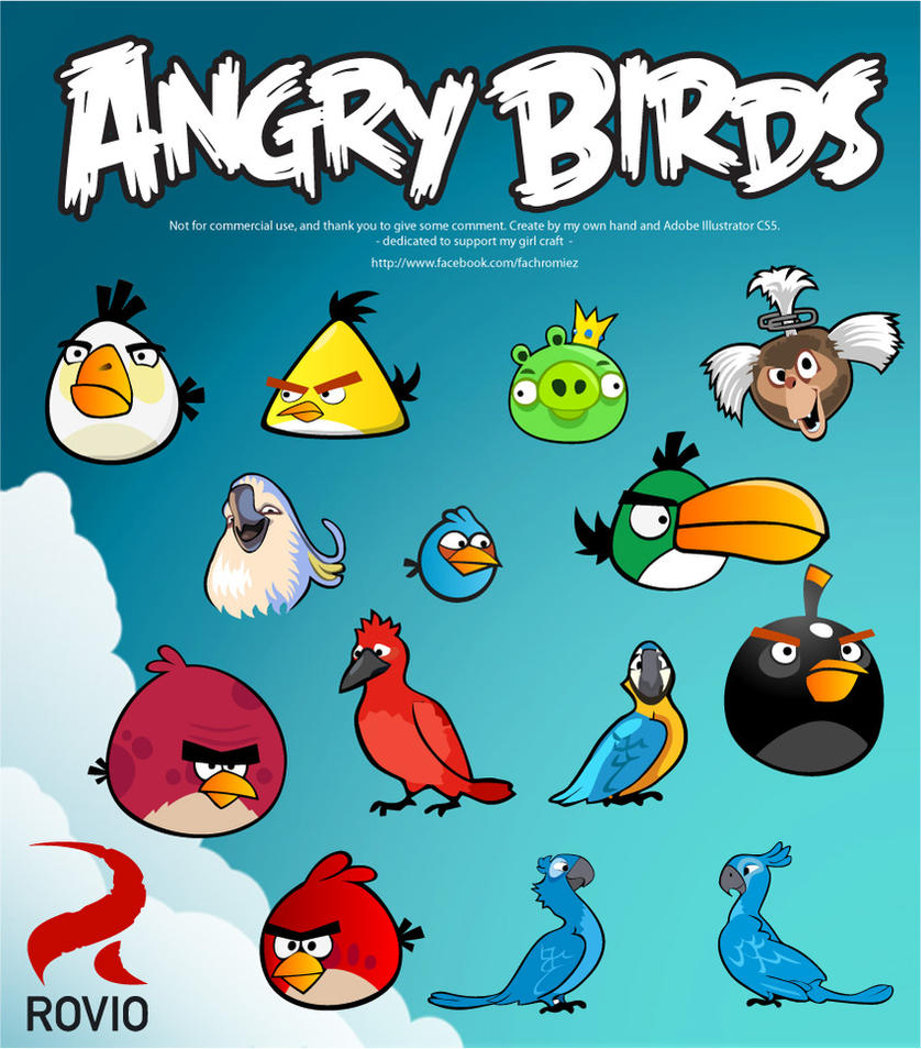 The Vector of Angry Birds Character. by Romiezfach on ...