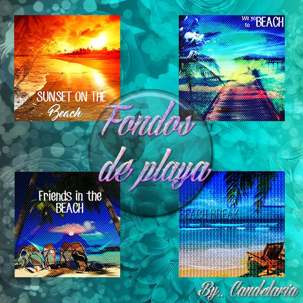 Fondos De Playa Con Frase En Ingles X4 By Edicionescande06