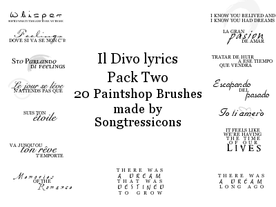 Il Divo Brushes Set 2 by RoyalSongstress
