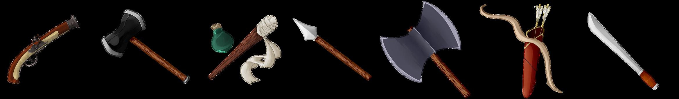 .:SaS:. First Weapons by MokoMia