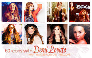 60 icons with Demi Lovato