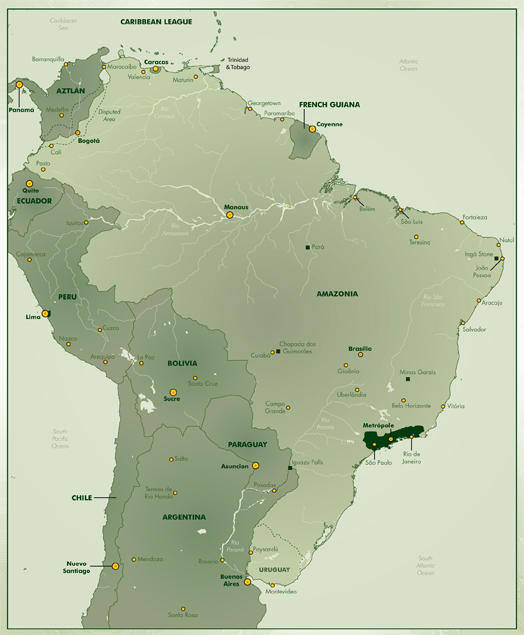Anyone have a link to a Sixth World map of South America? : Shadowrun