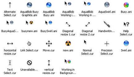 Mac OS X Cursors by cyazian