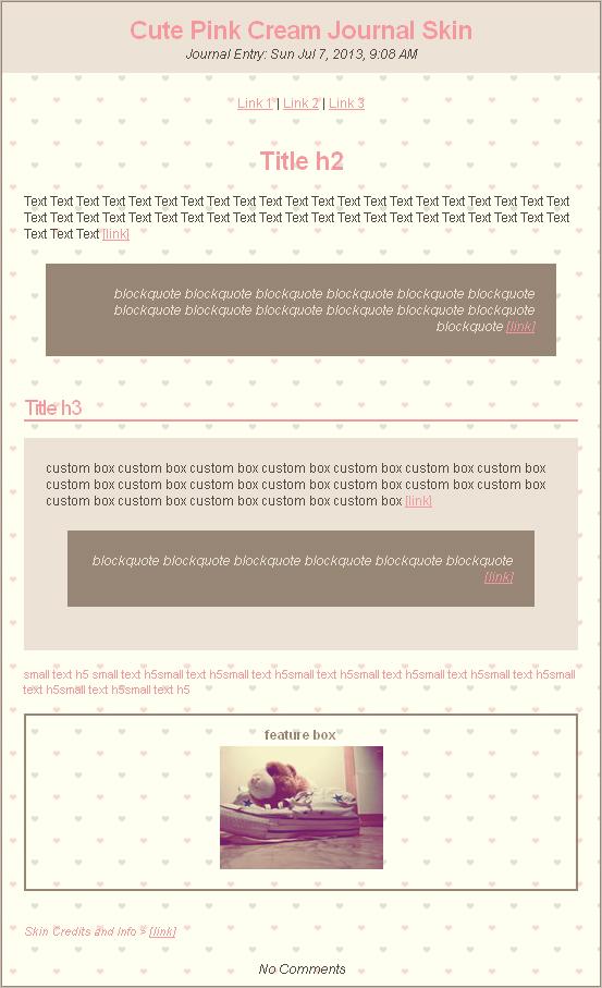 Cute Pink Cream Journal Skin by Ninelyn