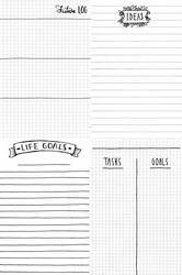 Free Printables - Planner / Journal Worksheets by Ninelyn