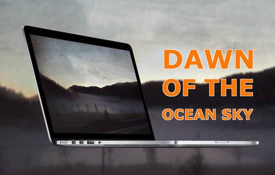 Dawn of the ocean sky