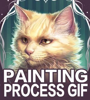 Squarkle Portrait Process Gif (with Speedpaint)