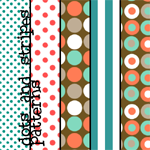 Dots and Stripes Patterns by colourgallery