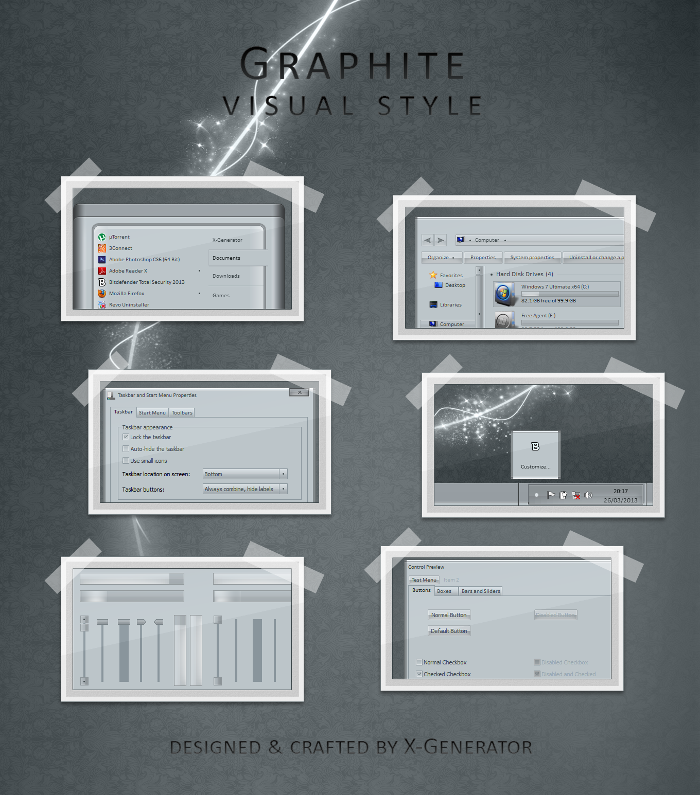 [����] Graphite Visual Style [ Windows 7 / 2013 ]